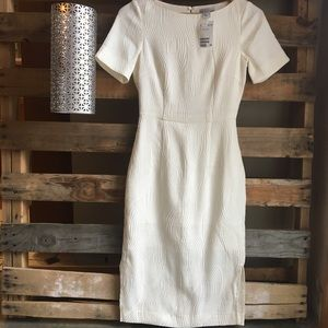 H&M | NEW White Peal Dress